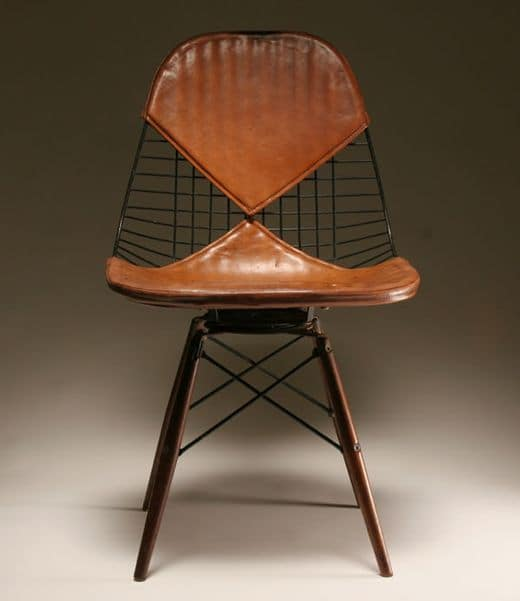 eames wire chairs leather pad