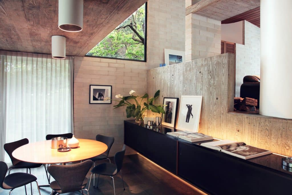 Harry Seidler Gissing House dining area