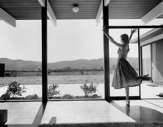Eichler house photographed by ernest braun