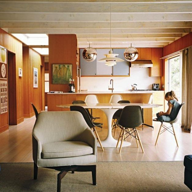 6 Mid Century Houses With Cozy Wood Paneled Living Rooms