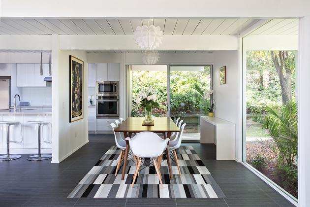 Double Gable Eichler Remodel - dining area - klopf architecture