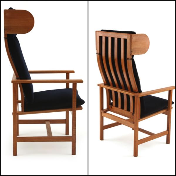 borge mogensen -  Oak and Mohair  armchair