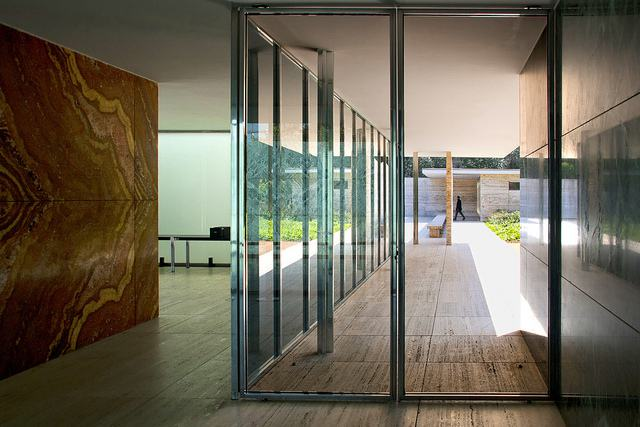 the barcelona pavilion by mies van der rohe. Black Bedroom Furniture Sets. Home Design Ideas