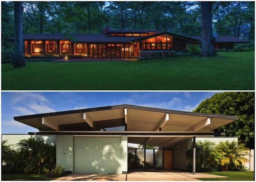 frank lloyd wright zimmerman usonian house - eichler a. quincy jones house -