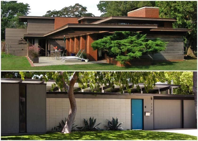 frank lloyd wright schwarts usonian house - eichler anshen and allen orange county houses