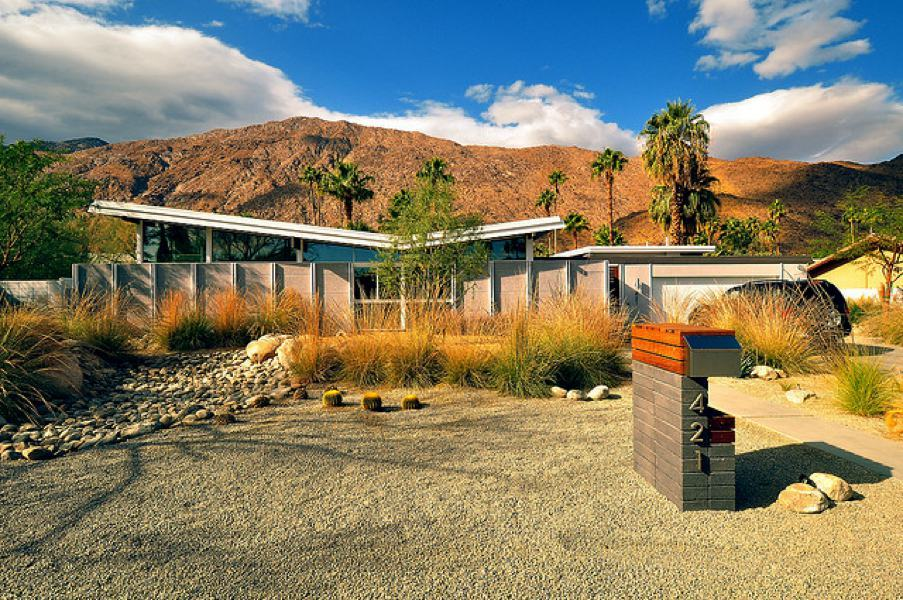 6 houses designed by palmer and krisel in palm springs for New modern homes palm springs