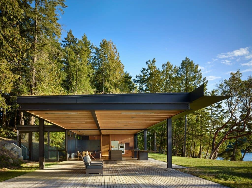 A Waterfront Modernist Retreat On The San Juan Islands