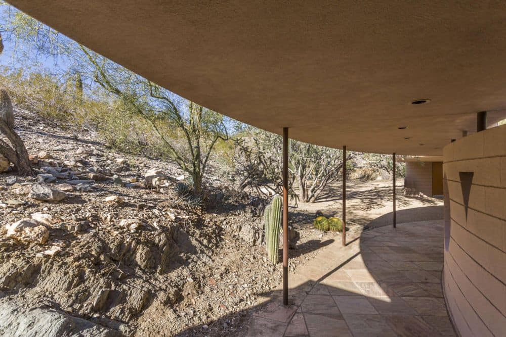 Frank Lloyd Wright Norman Lykes home arizona exterior porch