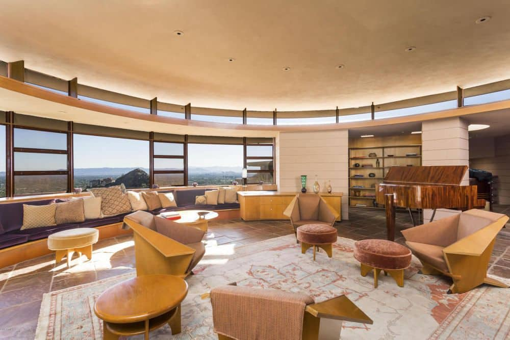 Frank Lloyd Wright Norman Lykes home arizona living room
