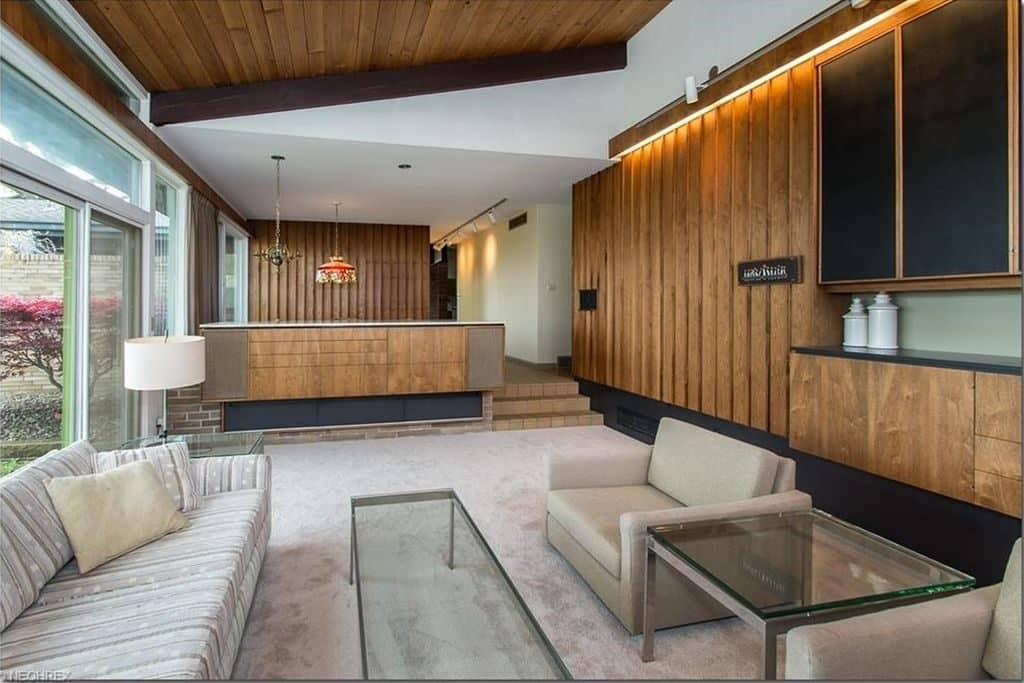 mid century house Cuyahoga Valley architect E. Keith Haag living