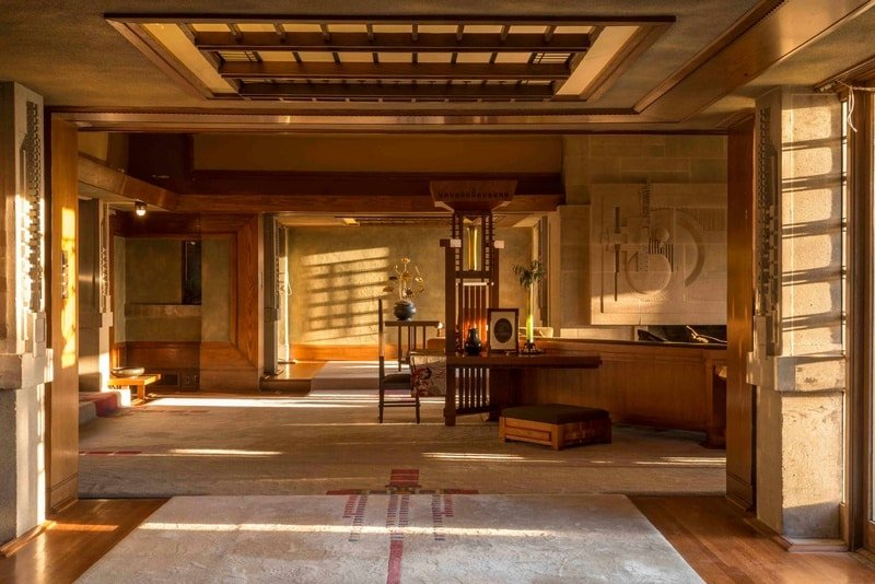 Frank Lloyd Wright Hollyhock House dining room