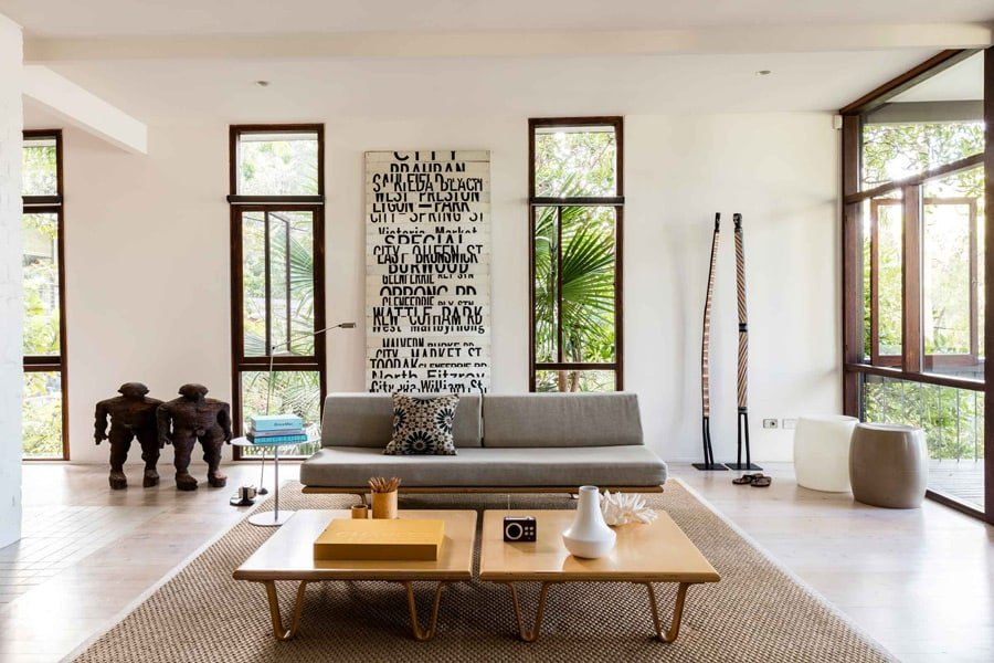 Mid Century at Pearl Beach by Brian Mazlin inside living room daylight