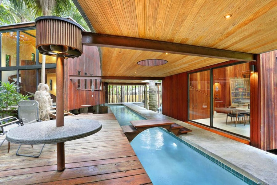 Modernist house by Alfred Browning Parker pool