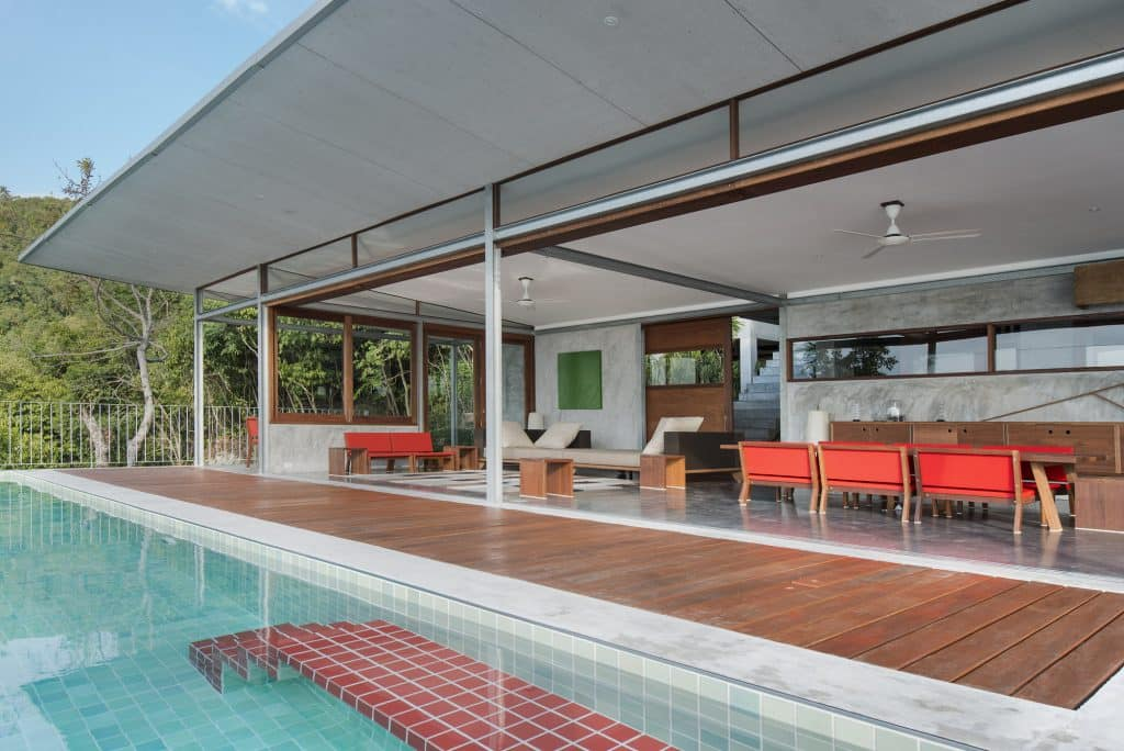 Naked House - Marc Gerritsen living room view from pool