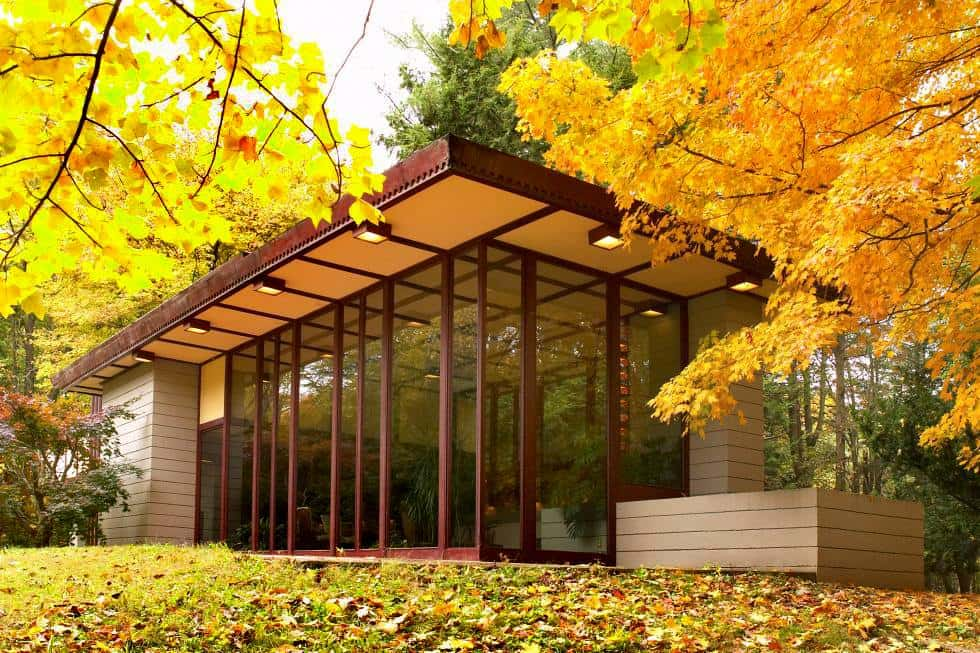 The Frank Lloyd Wright's Penfield House exterior autumn