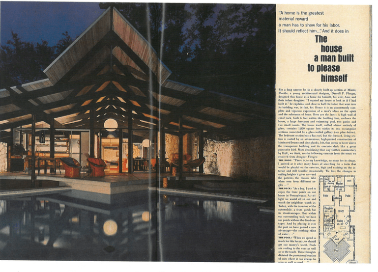 Darrel Fleeger mid-century house miami_magazine